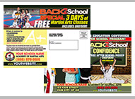 Back to school Martial Arts printing
