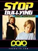 Anti Bullying Ad Cards | STOP BULLYING Martial Arts Cards