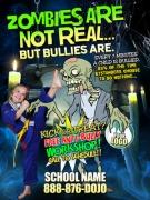 Halloween Karate Ad Cards Martial Arts Kick or Treat ANTI BULLY