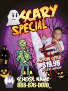 Martial Arts Halloween Ad cards Karate