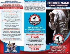 Martial Arts Trifold Brochures Templates Printing Dojo Industries