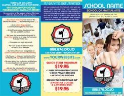 Martial Arts Summer Camp Brochure Printing Dojo Industries Karate