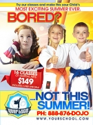 Martial Arts Printing Summer Ad Cards