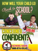 Back To SchooL Martial Arts Marketing Flyers