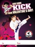 Martial Arts Valentine's Ad Cards