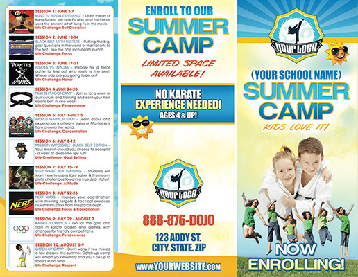 Martial Arts Summer Camp Brochure Printing at Printing Dojo